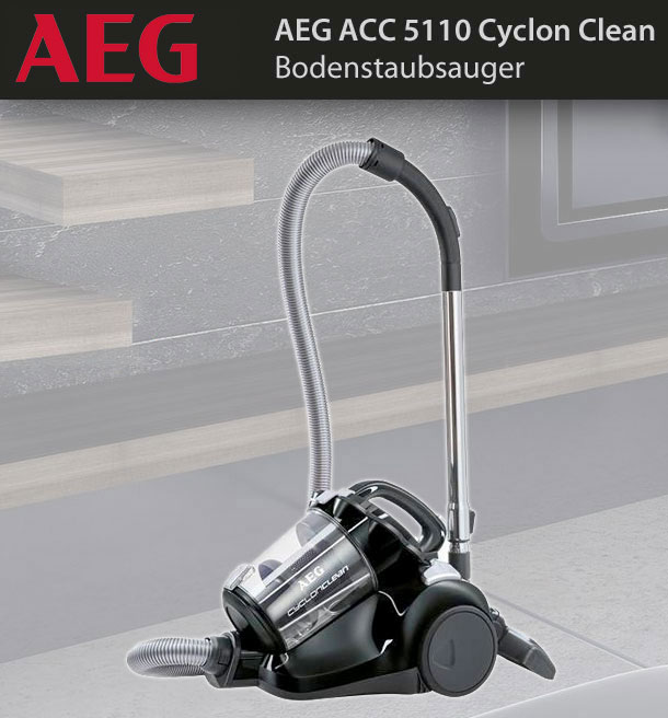 aeg acc 5110 cyclon clean sol aspirateur aspirateur sans sac eek b 800 w ebay. Black Bedroom Furniture Sets. Home Design Ideas