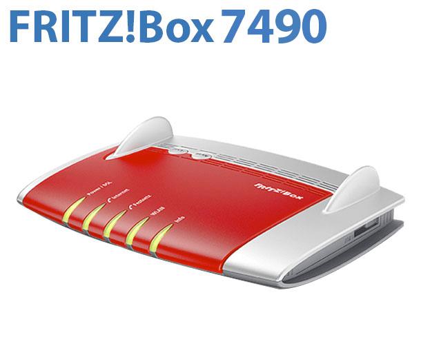 avm fritz box 7490 dsl modem wlan router ac n dect. Black Bedroom Furniture Sets. Home Design Ideas