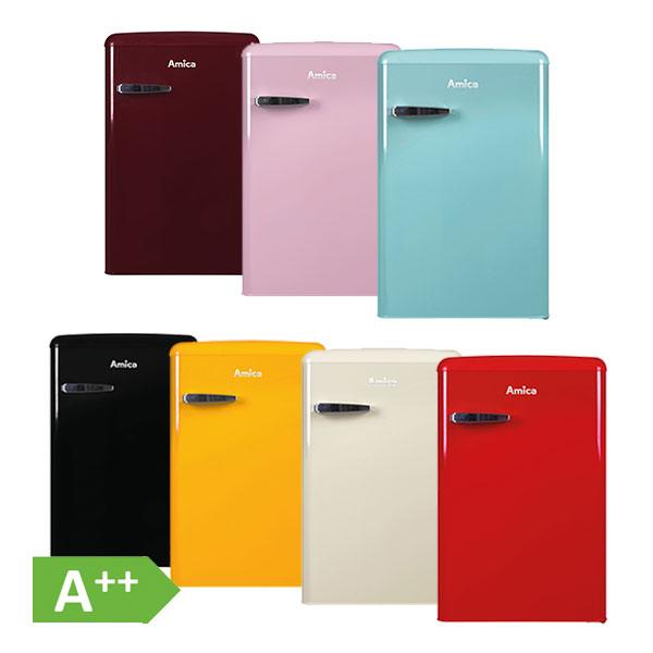 Amica Retro Design KS 1561 A++ Kühlschrank mit Gefrierfach 106L ... | {Kühlschrank retro weiß 25}