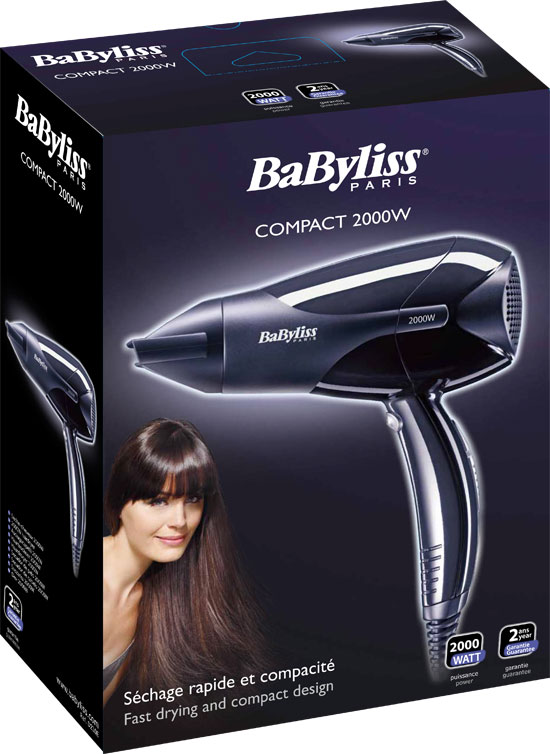 babyliss compact d210e haartrockner 2000 watt leistung k hlstufe d se 3 stufen. Black Bedroom Furniture Sets. Home Design Ideas