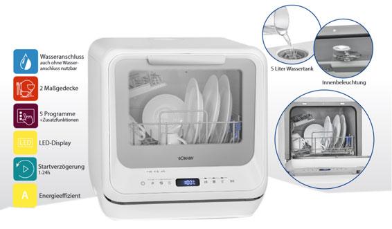 Mini Geschirrspuler Ohne Wasseranschluss Mini Geschirrspuler