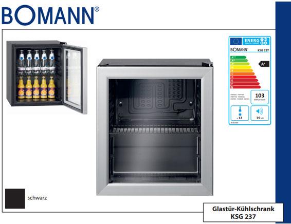 Bomann Kühlschrank Mit Glastür : Bomann ksg glastürkühlschrank schwarz deltatecc ihr