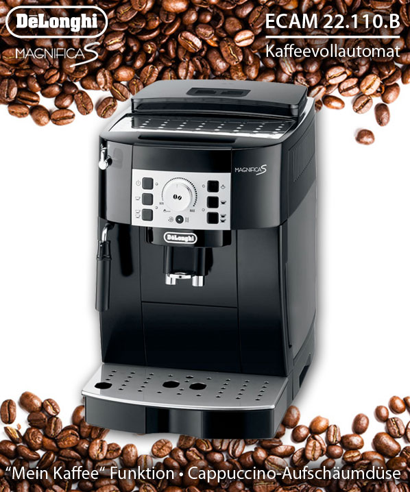 delonghi ecam b espresso kaffee vollautomat kaffeemaschine schwarz 8004399325050 ebay. Black Bedroom Furniture Sets. Home Design Ideas