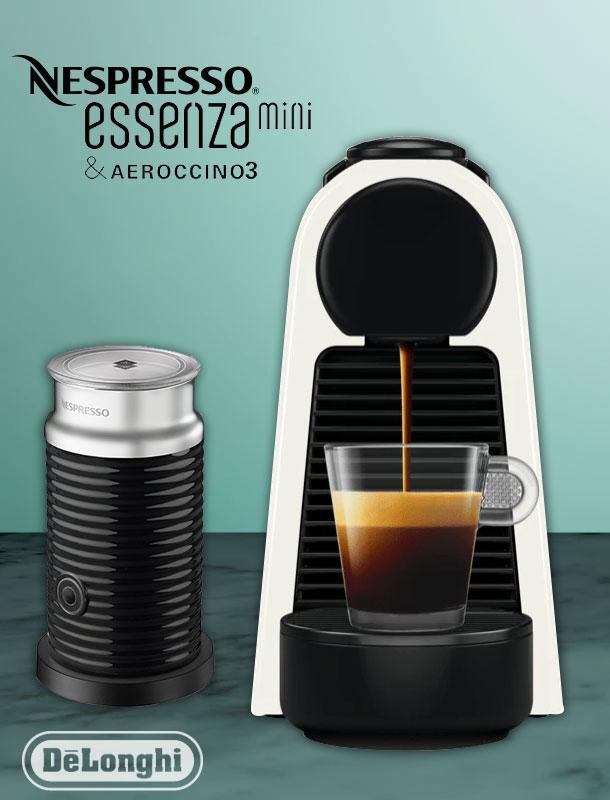 delonghi en 85 wae essenza mini nespressomaschine wei mit. Black Bedroom Furniture Sets. Home Design Ideas