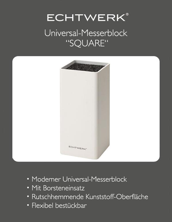 echtwerk messerblock universal square wei block f r messer k chenutensilien ebay. Black Bedroom Furniture Sets. Home Design Ideas
