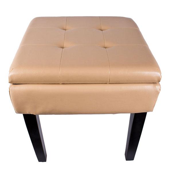 hochwertige sitztruhe sitzhocker mit stauraum beige ebay. Black Bedroom Furniture Sets. Home Design Ideas