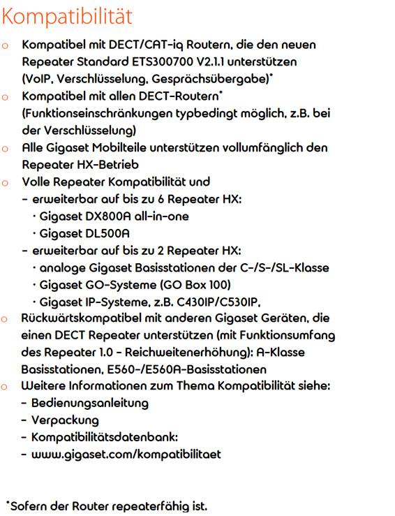 Gigaset Repeater HX 16090068765 13 566