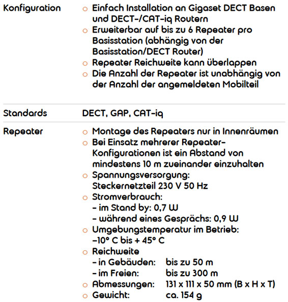 Gigaset Repeater HX 16090068765 14 566