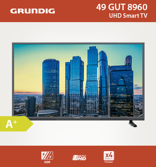 Grundig Ultra Hd 4k Smart Tv 55 Smart Tv To Old Receiver Tv Vhs Usato Full Hd Monitor For Gaming: Grundig 123cm 49 Zoll Ultra HD 4K LED Fernseher Smart TV