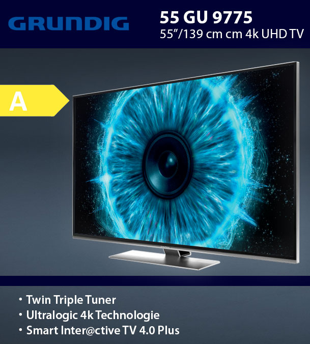 "Grundig Ultra Hd 4k Smart Tv 55 Smart Tv To Old Receiver Tv Vhs Usato Full Hd Monitor For Gaming: Grundig 55GUS9775 139cm 55"" Ultra HD 4K LED Fernseher"