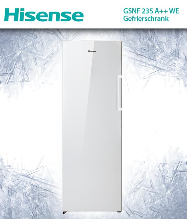 hisense gsnf 235 a we gefrierschrank 235l freistehend no frost. Black Bedroom Furniture Sets. Home Design Ideas