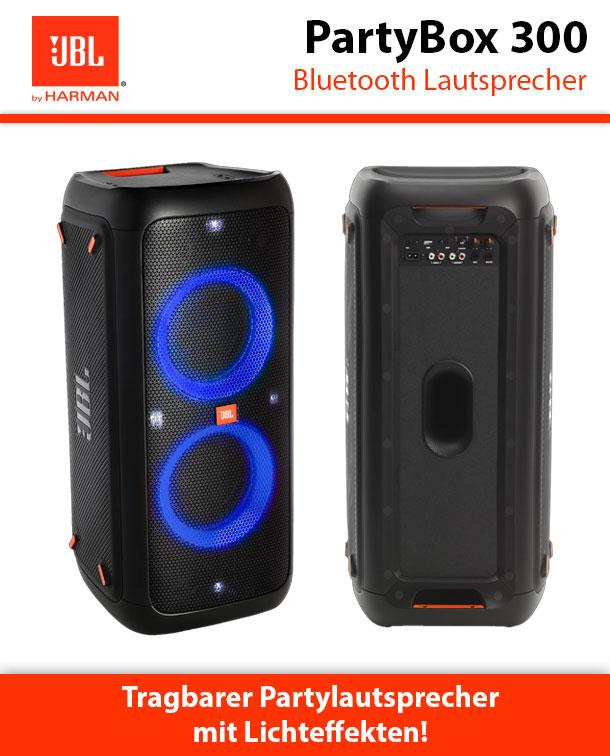 jbl partybox 300 bluetooth lautsprecher lichteffekte tws. Black Bedroom Furniture Sets. Home Design Ideas