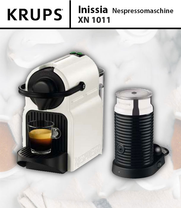 krups xn 1011 inissia bundle white nespresso mit aeroccino3 wei kapselmaschine 10942217480 ebay. Black Bedroom Furniture Sets. Home Design Ideas