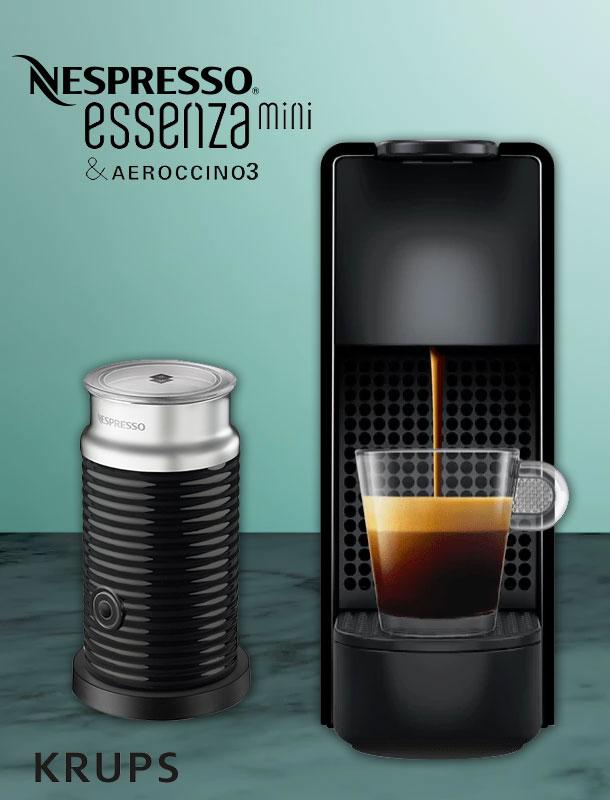 krups xn 1118 nespresso essenza mini bundle schwarz mit. Black Bedroom Furniture Sets. Home Design Ideas
