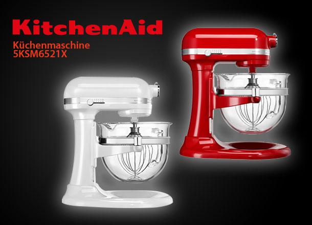 kitchenaid artisan 5ksm6521xe artisan k chenmaschine 6l glassch ssel mit griff ebay. Black Bedroom Furniture Sets. Home Design Ideas