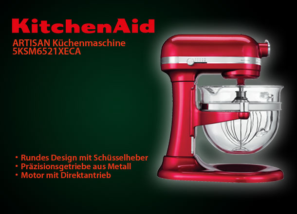 kitchenaid artisan 5ksm6521xeca k chenmaschine mit sch sselheber liebesapfelrot ebay. Black Bedroom Furniture Sets. Home Design Ideas
