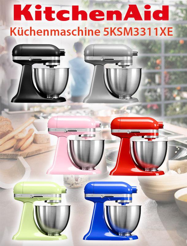 kitchenaid artisan mini k chenmaschine 5ksm3311xe factory serviced 3 3l ebay. Black Bedroom Furniture Sets. Home Design Ideas