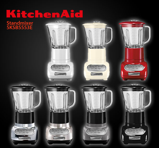 kitchenaid 5ksb5553enk artisan blender standmixer geb rstetes metall mixer ebay. Black Bedroom Furniture Sets. Home Design Ideas