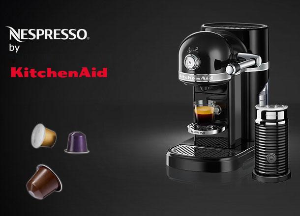 kitchenaid 5kes0504eob 4 nespresso kaffeemeaschine onyx. Black Bedroom Furniture Sets. Home Design Ideas
