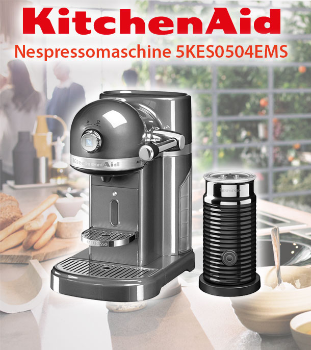 kitchenaid 5kes0504e nespresso kapselautomat kaffeemaschine factory serviced deltatecc ihr. Black Bedroom Furniture Sets. Home Design Ideas
