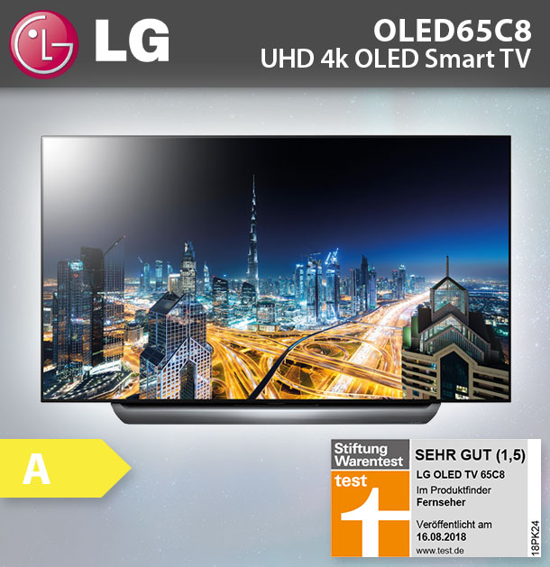 lg oled 65c8lla 164cm 65 zoll oled fernseher ultra hd 4k smart tv hdr wlan ebay. Black Bedroom Furniture Sets. Home Design Ideas