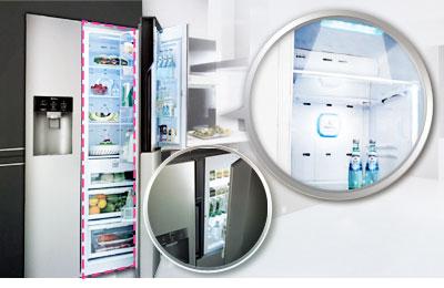 Side By Side Kühlschrank In Ecke : Lg gs pzqzm side by side kühl gefrierkombination eek a l