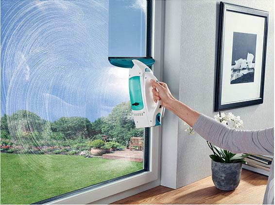 LEIFHEIT 51021 finestra ASPIRATORE Set Dry /& Clean finestra aspiratore e sprühwischer Bianco