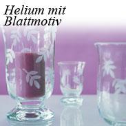 Helium mit Blattmotiv