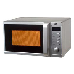 ecg mgd 20 mikrowelle mit grill silber mikrowellenger t 800w grill 20l garraum ebay. Black Bedroom Furniture Sets. Home Design Ideas
