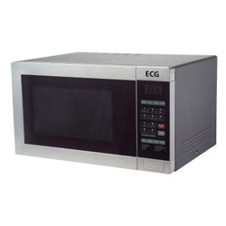 ecg mh 25 edelstahl mikrowelle mit grill und hei luft ebay. Black Bedroom Furniture Sets. Home Design Ideas