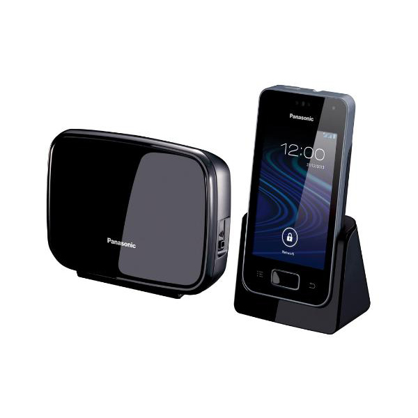 panasonic kx prw 120 gw designtelefon basis als wifi repeater einsetzbar schwarz ebay. Black Bedroom Furniture Sets. Home Design Ideas
