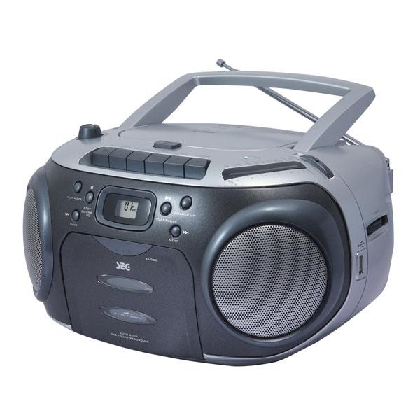 seg rr 1330 radiorecorder radio mit cd player usb port mp3. Black Bedroom Furniture Sets. Home Design Ideas