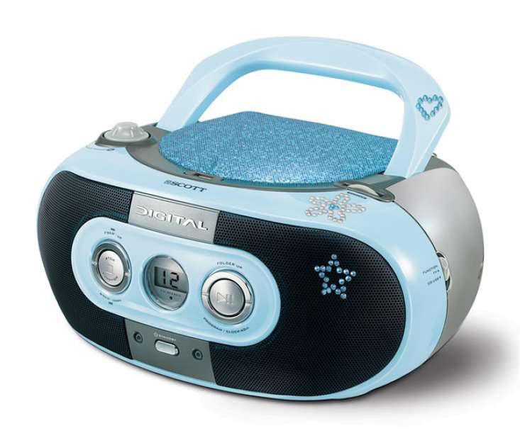 scott sdm 10 bl radio cd player blau ebay. Black Bedroom Furniture Sets. Home Design Ideas