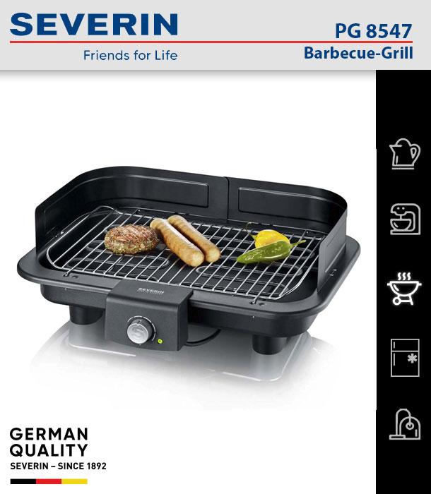 Severin PG 8547 Barbecue-Grill elektrischer Tischgrill Elektrogrill Campinggrill