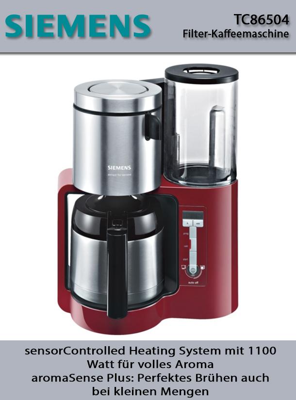 siemens filter kaffeemaschine thermo in luzern kaufen bei. Black Bedroom Furniture Sets. Home Design Ideas