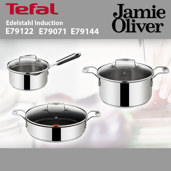 tefal jamie oliver e79071 servierpfanne e79122 stielkasserolle e79144 bratentopf ebay. Black Bedroom Furniture Sets. Home Design Ideas