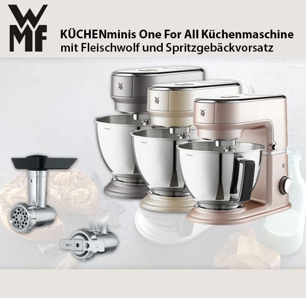 Wmf Küchenminis Küchenmaschine Fleischwolf Spritzgebäckvorsatz