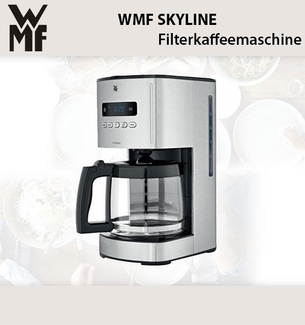 wmf skyline digital kaffeemaschine glas cromargan matt 12. Black Bedroom Furniture Sets. Home Design Ideas
