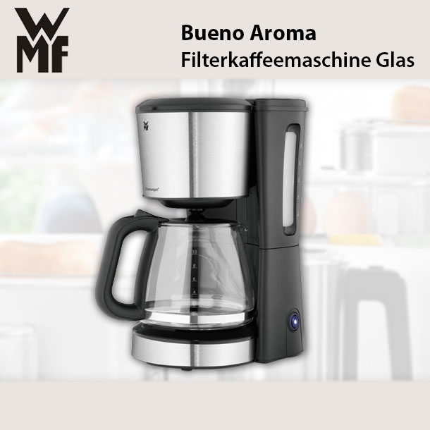 wmf bueno kaffeemaschine filterkaffeemaschine glas 1000. Black Bedroom Furniture Sets. Home Design Ideas