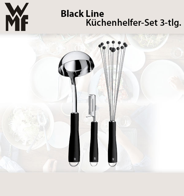 wmf black line k chenhelfer set 3 tlg schopfl ffel sch ler r hrblitz ebay. Black Bedroom Furniture Sets. Home Design Ideas