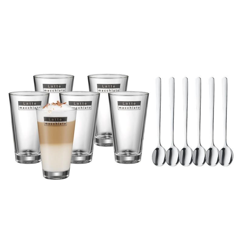 wmf latte macchiato 6er set mit l ffel ebay. Black Bedroom Furniture Sets. Home Design Ideas