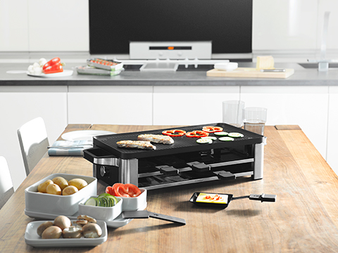 wmf lono raclette grill cromargan matt 1500 watt leistung ebay. Black Bedroom Furniture Sets. Home Design Ideas