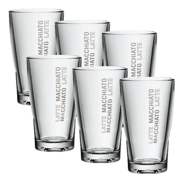 wmf barista latte macchiato glas set 6tlg wmf glas 265 ml 0954142040 ebay. Black Bedroom Furniture Sets. Home Design Ideas