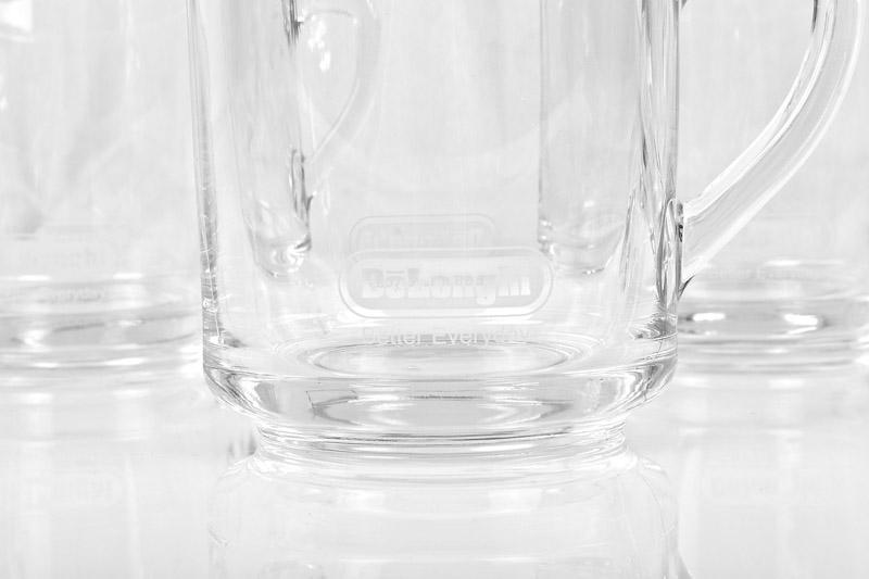 delonghi 8er glastassen set rastal gl ser glas kaffeetasse 250 ml ebay. Black Bedroom Furniture Sets. Home Design Ideas