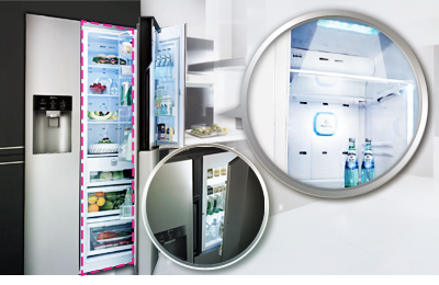 Side By Side Kühlschrank In Ecke : Lg gs nedz side by side deltatecc