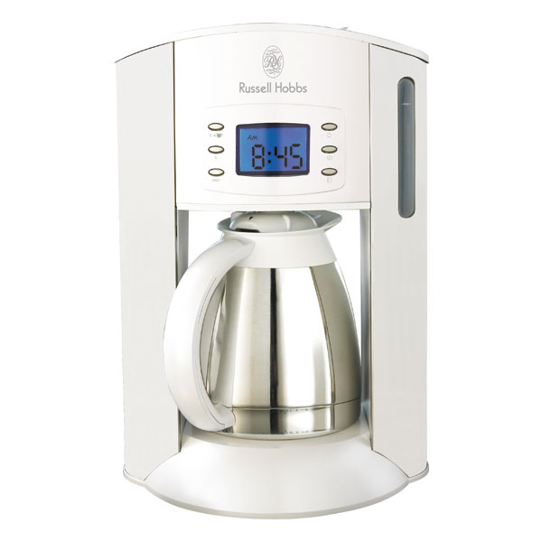 russell hobbs white style kaffeemaschine ebay. Black Bedroom Furniture Sets. Home Design Ideas