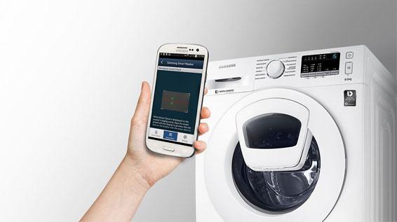 samsung ww90k4420yw eg waschmaschine 9kg eek a add wash pflegetrommel ebay. Black Bedroom Furniture Sets. Home Design Ideas