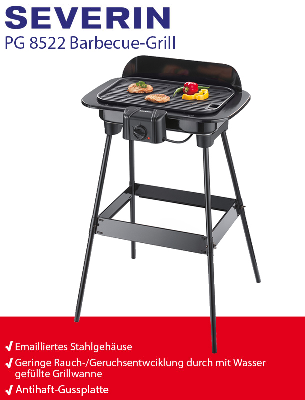severin pg 8522 barbecue standgrill elektrogrill bbq grill ebay. Black Bedroom Furniture Sets. Home Design Ideas