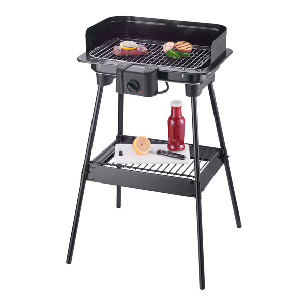 severin pg 8523 barbecuegrill standgrill elektrogill 2300w 37x23cm bbq ebay. Black Bedroom Furniture Sets. Home Design Ideas