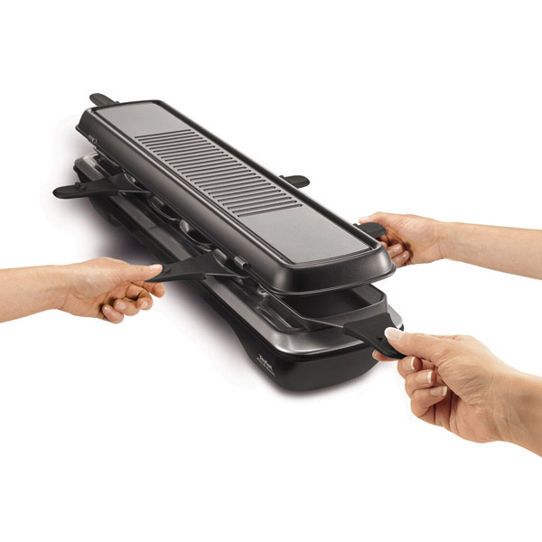 tefal re 5228 raclette simply line 6 inox design ebay. Black Bedroom Furniture Sets. Home Design Ideas